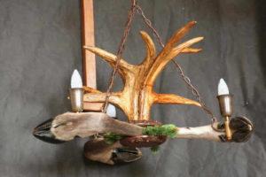 Светильник из рогов