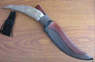 рукоятка ножа из рога оленя